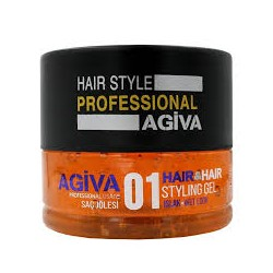 HAIR & HAIR STYLING GEL 01 WET LOOK 200ml - AGIVA