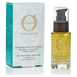 olio trattante 100 ml per capelli fini e biondi con olio di argan e semi di lino oro del marocco barex